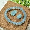 vòng tay đá taquamarine, tỳ hưu đá aquamarine, lu thống đá aquamarine